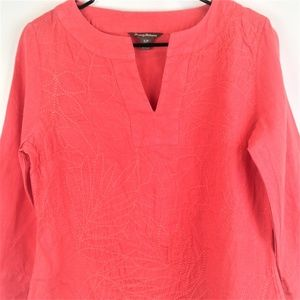 Tommy Bahama Womens Pink Linen Top SP